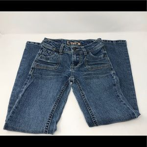 Youth Girls Blue Levi's size 8 slim